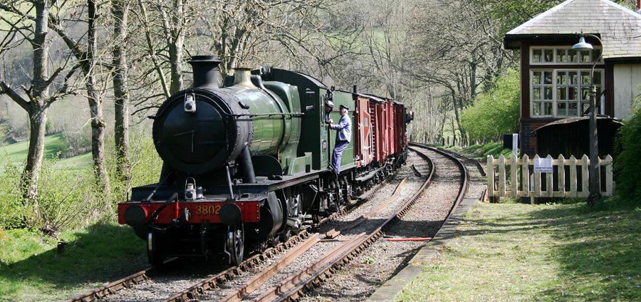 Steam train in the Dee Valley, Llangollen