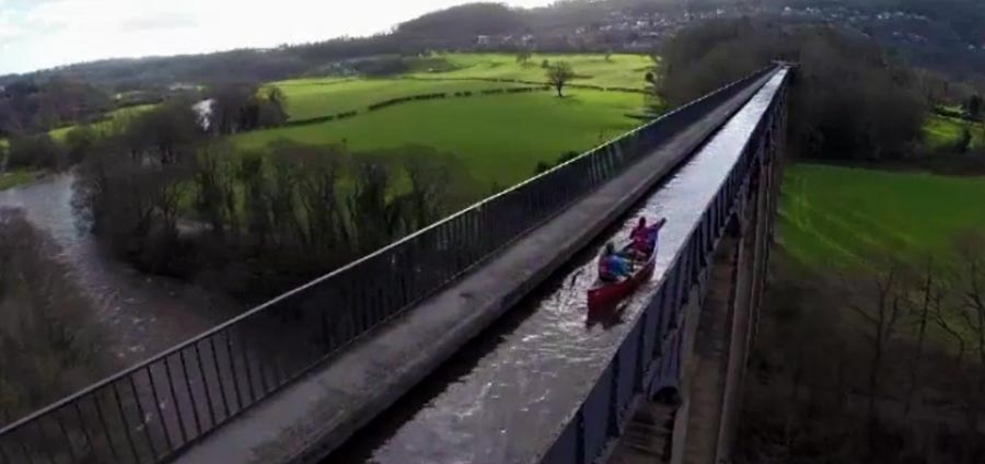 Canoeing on the Pontcysyllte Aqueduct