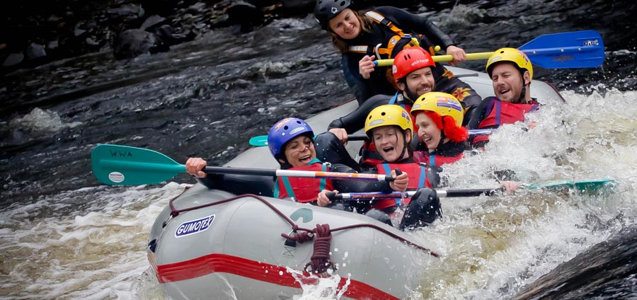 Rafting on the River Dee